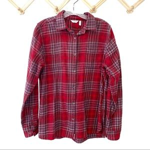 Woolrich Pemberton Flannel Shirt Red Plaid Large